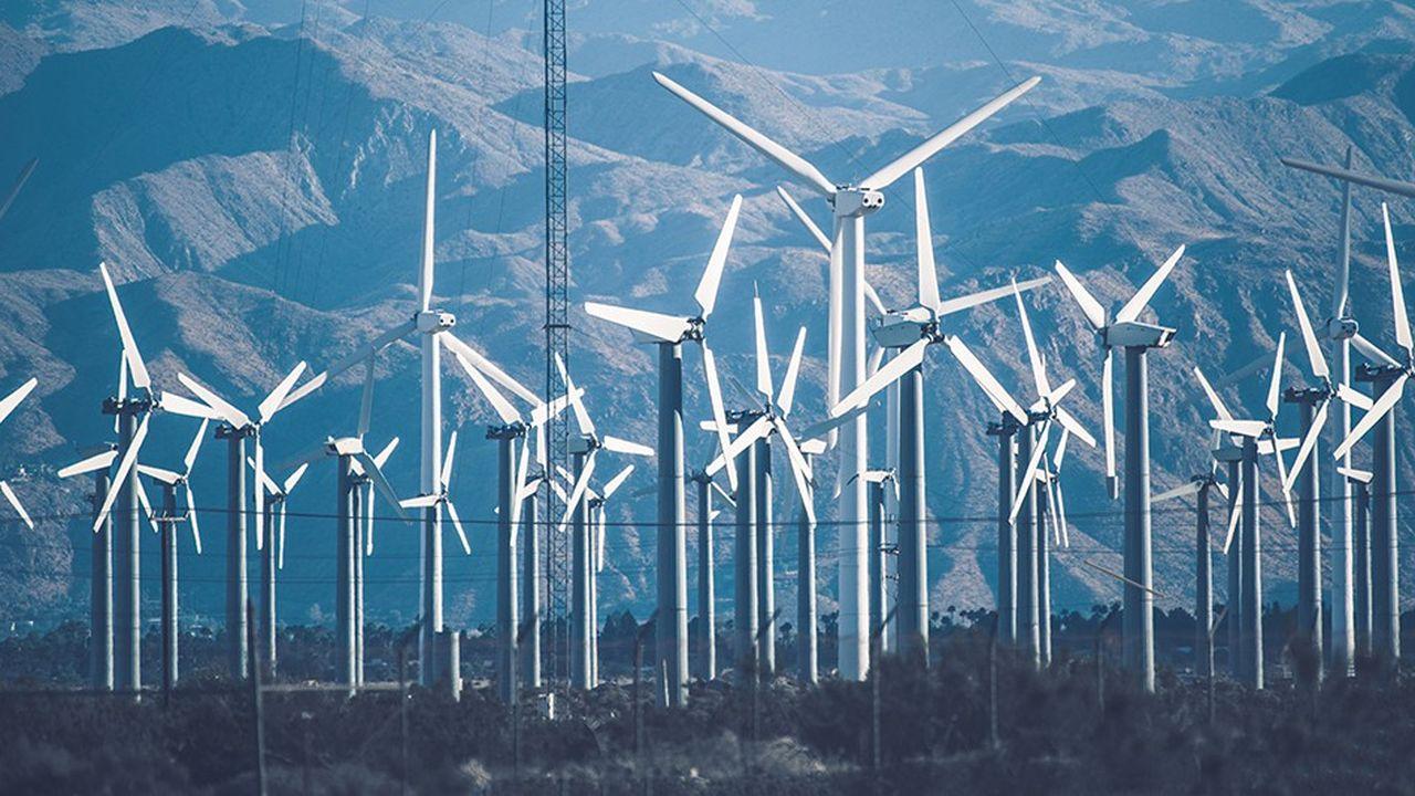Des éoliennes dans la vallée de Coachella près de Palm Springs (Californie).