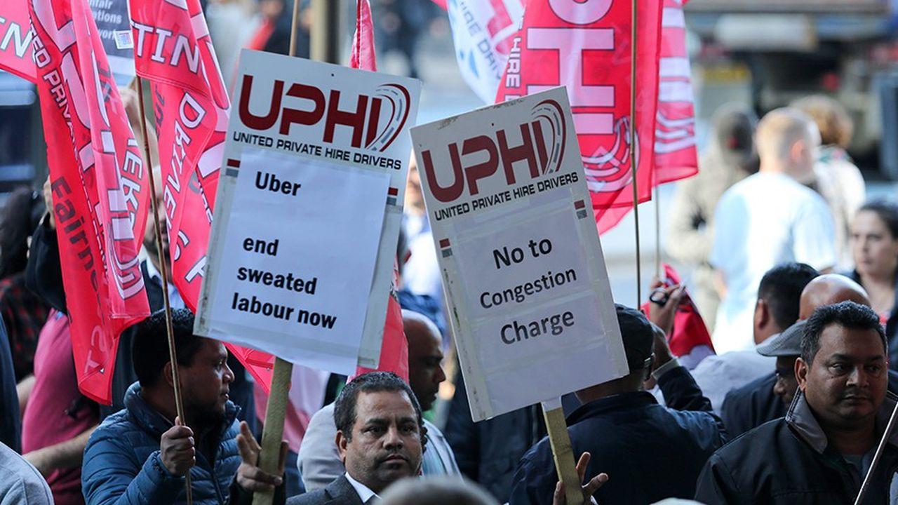 Les conducteurs réclament une réduction de 10% des commissions qu'ils payent à Uber