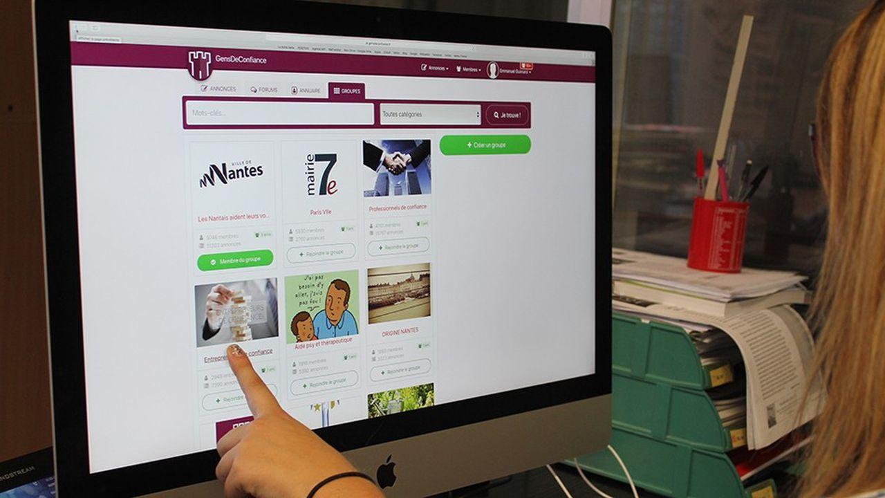 Le sitede petites annonces Gens de Confiance, lancé à Nantes il y a quatre ans, proscrit l'anonymat et nécessite un parrainage.