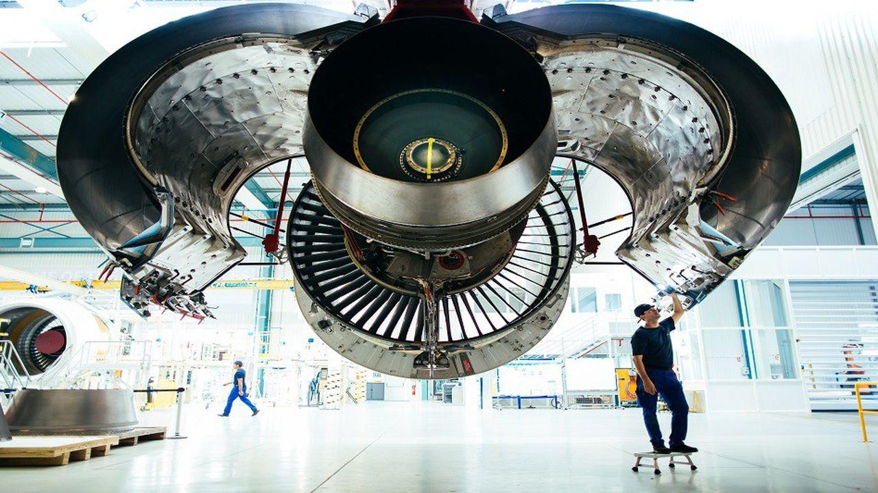 Une nacelle de moteur Leap, destinée à être montée sur un Airbus A320 neo, à l'usine Safran de Hambourg.