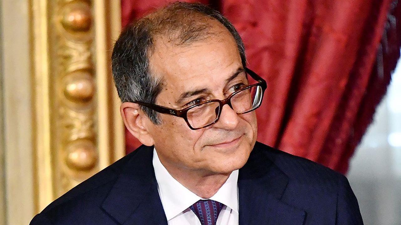 Le ministre de l'Economie italien Giovanni Tria.