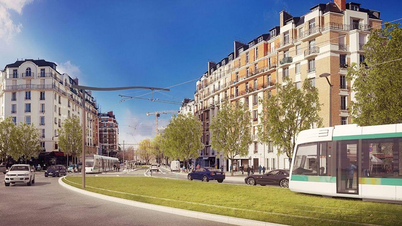 Le tronçon du tramway de la Porte de la Chapelle à la Porte d'Asnières sera inauguré à la fin novembre.