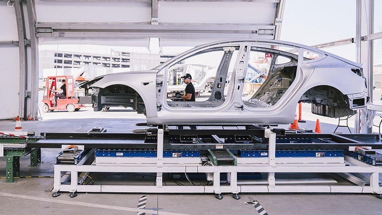La «Gigafactory» de Tesla sera dotée à terme d'une capacité de production de 500.000 véhicules par an.