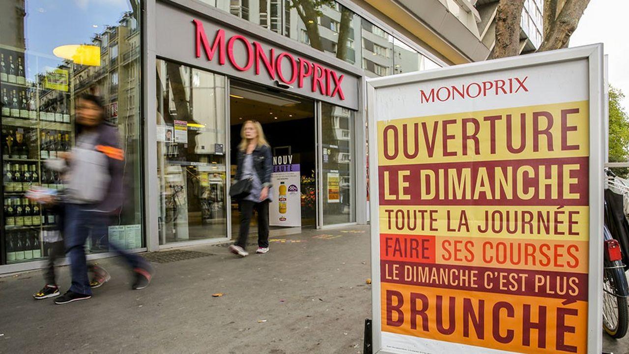 Le trafic clients de Monoprix a progressé de plus de 6% à Paris (ici le magasin du centre commercial de Beaugrenelle qui ouvre le dimanche).