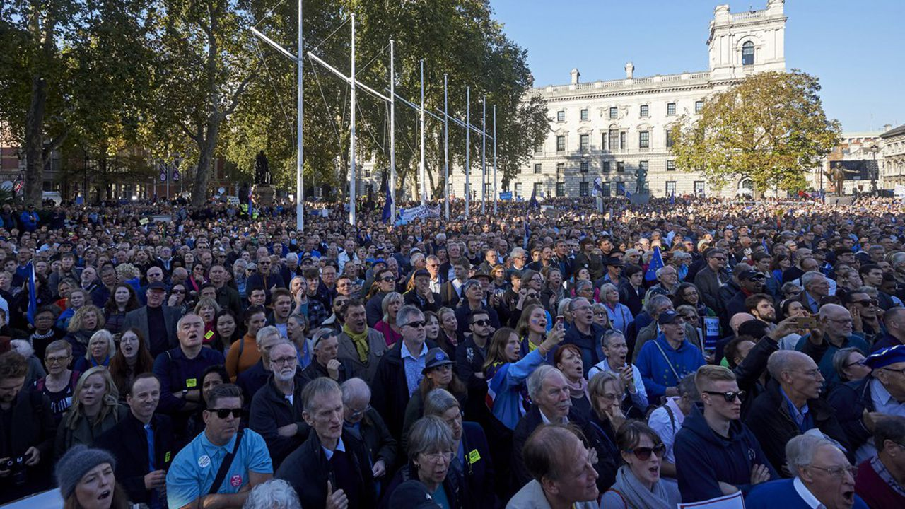 Parmi les manifestants, venus des quatre coins du pays et amenés par plus de 150 cars, se trouvaient aussi de nombreux citoyens européens, représentés notamment par «The3Million», un groupe de pression défendant les intérêts des près de 4millions d'Européens au Royaume-Uni.