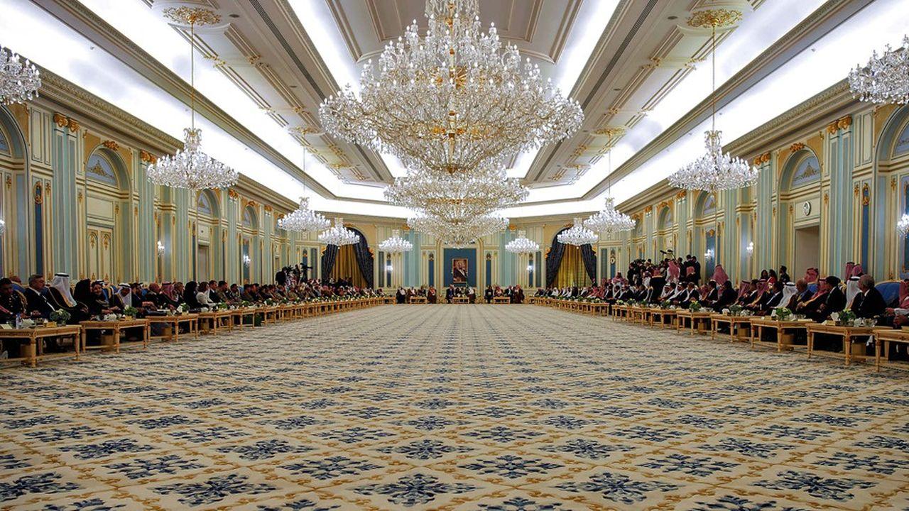Les dirigeants saoudiens, comme ici ceux rassemblés lors d'une audience du roi Salmane, sont surpris et déstabilisés par les réactions internationales à l'assassinat de Jamal Khashoggi.