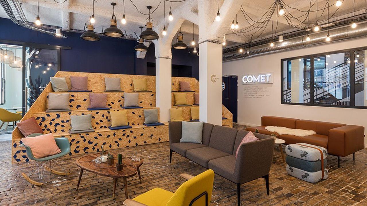En un an, le premier espace de Comet Meetings, rue Torricelli, à Paris, a accueilli 25.000 personnes, salariés du CAC 40, du SBF 120 (80 % de la clientèle) et de start-up.