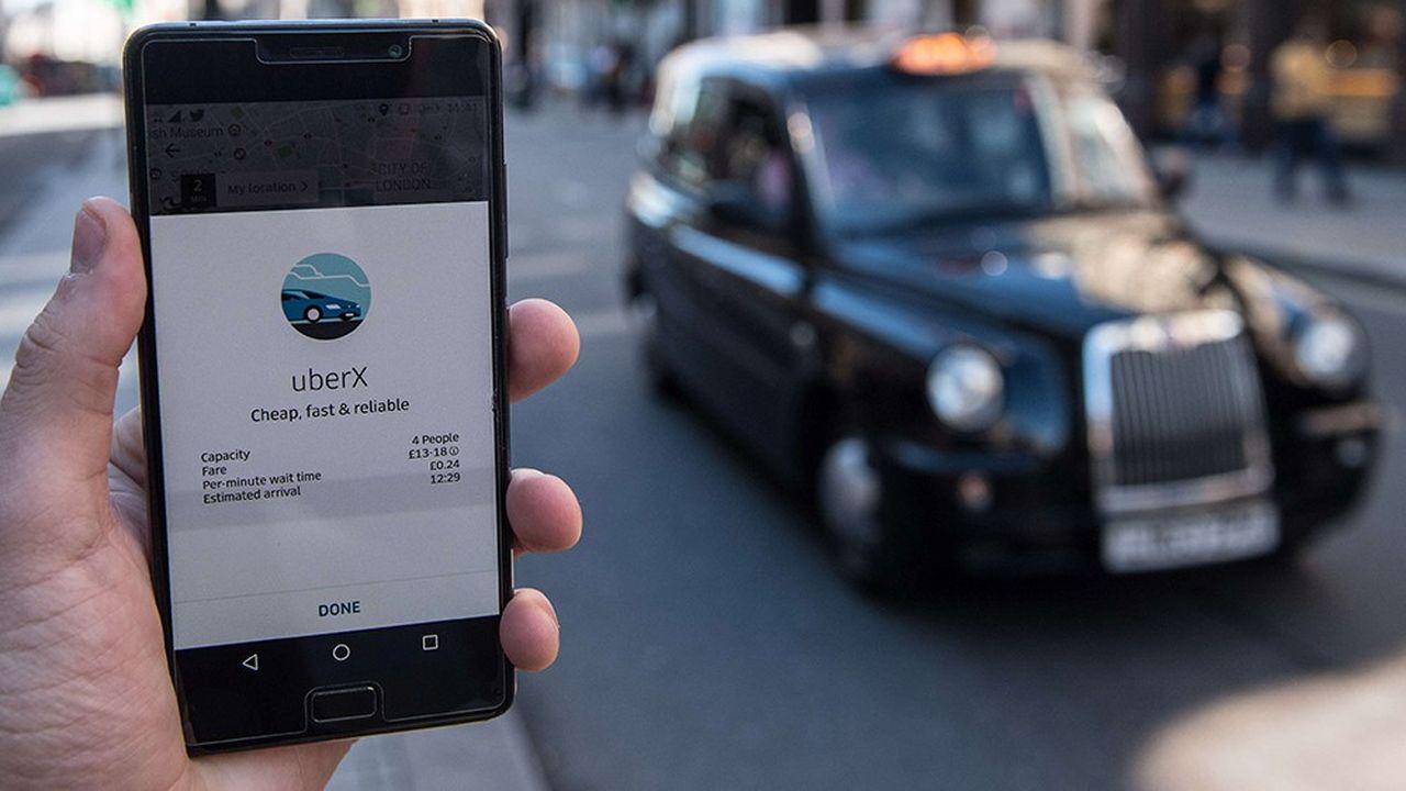Uber dit compter 3,6millions d'utilisateurs réguliers et 45.000 chauffeurs à Londres