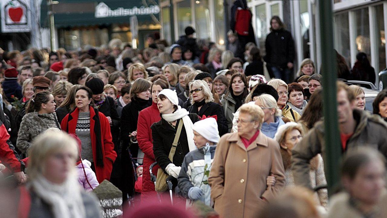 En Islande, l'écart salarial moyen entre un homme et une femme est de 26%.