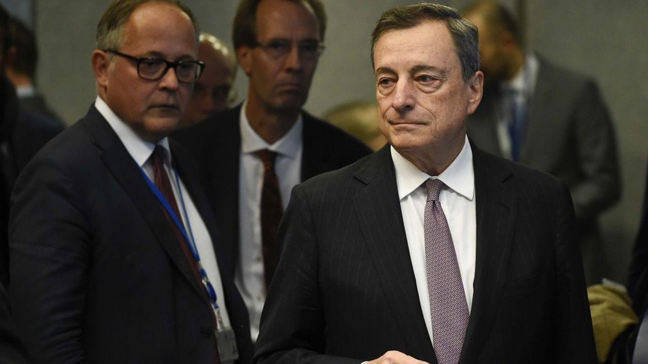 Le président de la BCE, Mario Draghi, quittera ses fonctions à l'issue de son mandat en octobre2019.