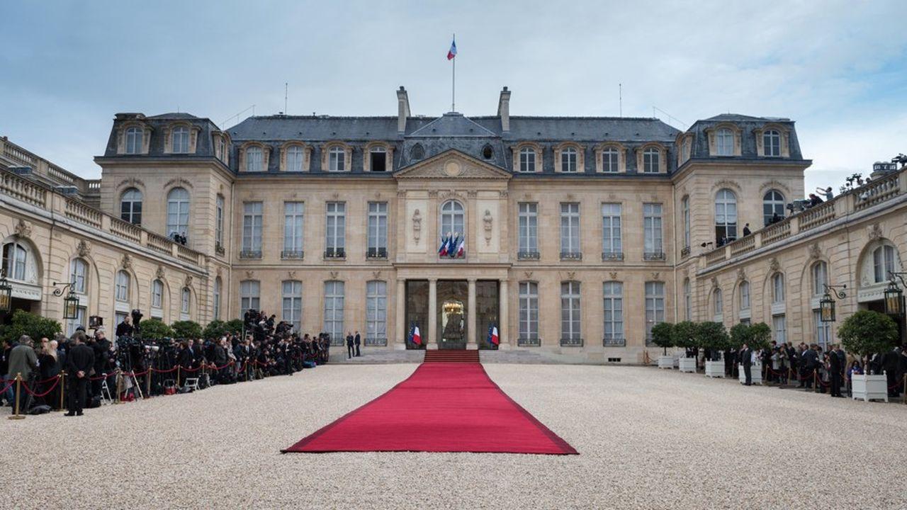 Le palais de l'Elysée, à Paris.