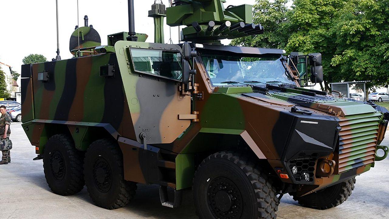 Le gouvernement belge a donné son feu vert à l'achat de 442 véhicules blindés du programme Scorpion, à raison de 60 blindés lourds du type Jaguar et 382 blindés légers de type Griffon (photo).