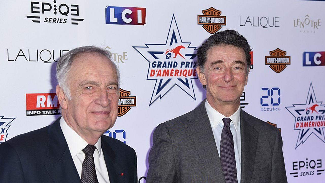 Les présidents de France Galop et de LeTrot, Edouard de Rothschild (à droite sur la photo) et Dominique de Bellaigue (à gauche), font le pari du changement alors que le financement de la filière hippique est menacé.
