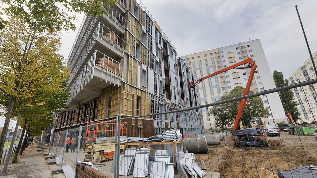 Au troisième trimestre, les mises en chantier de logements collectifs ont diminué de 4,7% en France.