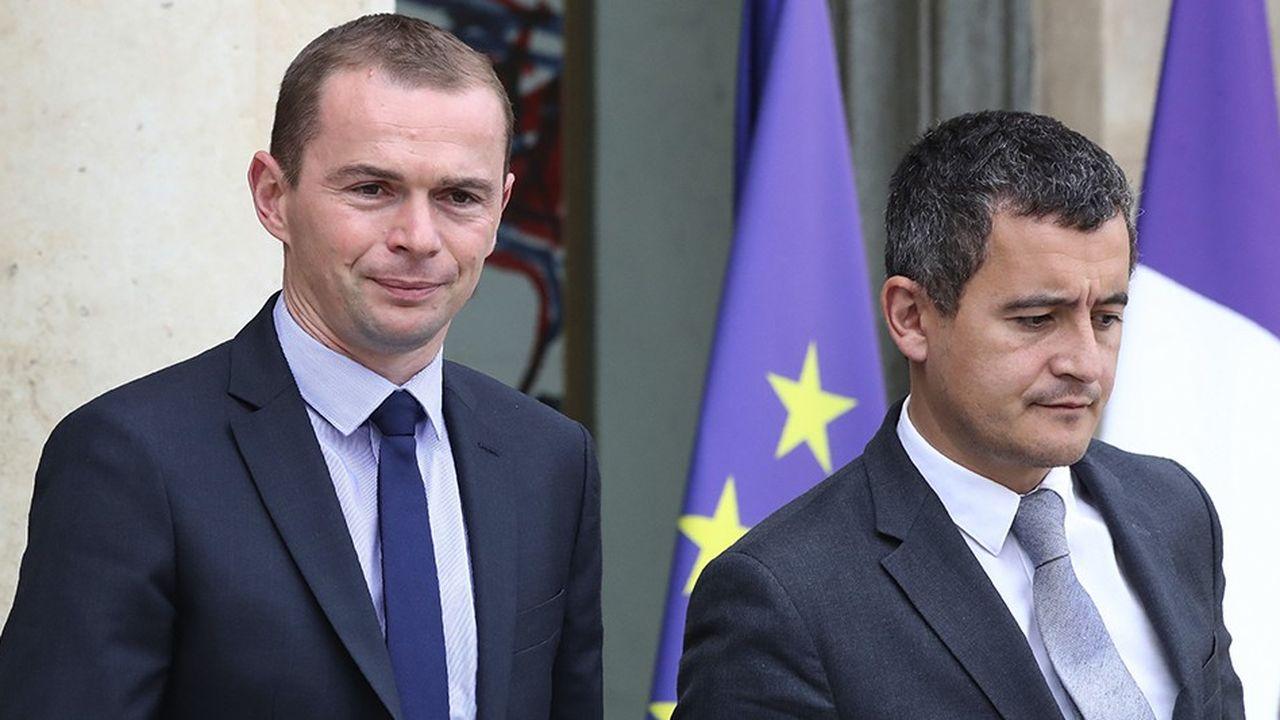 Le ministre de l'Action et des Comptes publics, Gérald Darmanin (à droite), ne facilite pas la tâche du secrétaire d'Etat à la Fonction publique, Olivier Dussopt (à gauche) avec ses déclarations tonitruantes du week-end.