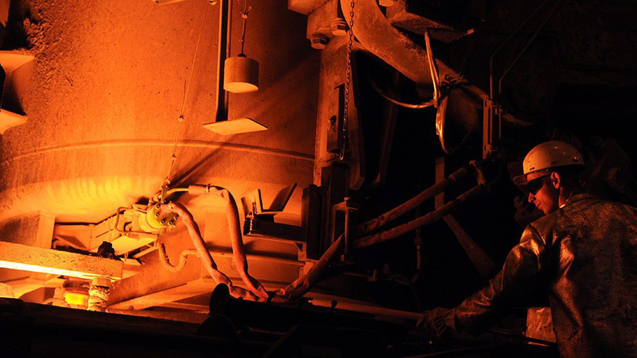 L'aciérie de Saint-Saulve (Nord) ne produit que 240.000 tonnes d'acier par an, pour une capacité de 500.000 tonnes.