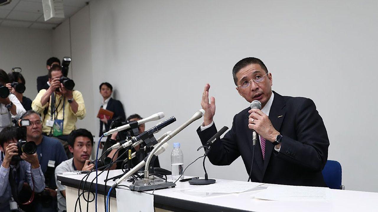 Hiroto Saikawa a vertement dénoncé les «travers du règne» de Carlos Ghosnlors d'une conférence de presse peu après l'arrestation du président du conseil de Nissan