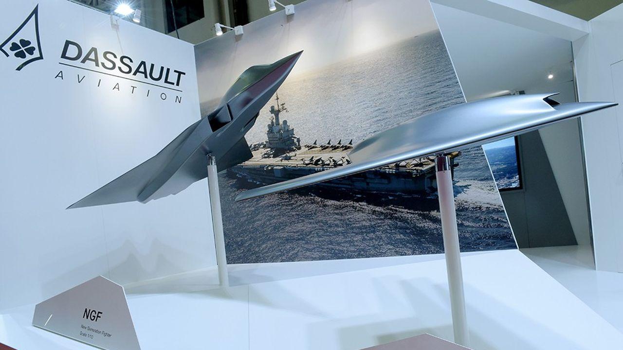 A Euronaval, Dassault a présenté une maquette du concept de NGF («new generation figther»).
