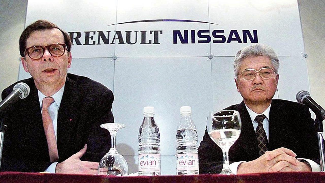 En 1999, Louis Schweitzer, le patron de Renault, annonçait l'alliance entre Renault et Nissan.