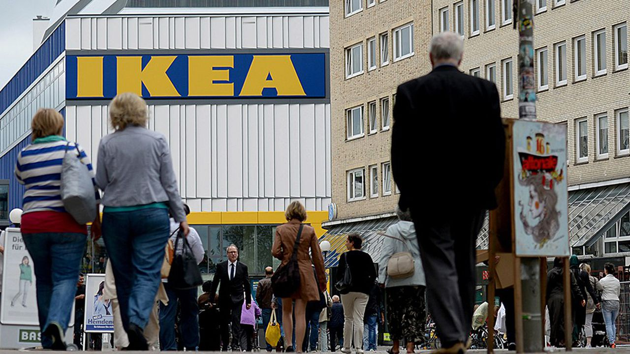 Le Ikea de Hambourg, en Allemagne, premier magasin du groupe ouvert en centre-ville.
