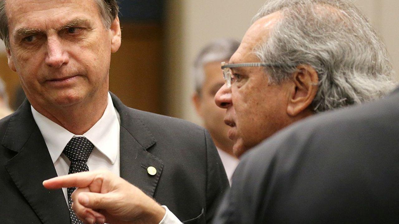 Jair Bolsonaro et Paulo Guedes vont former le tandem fort du nouveau gouvernement.