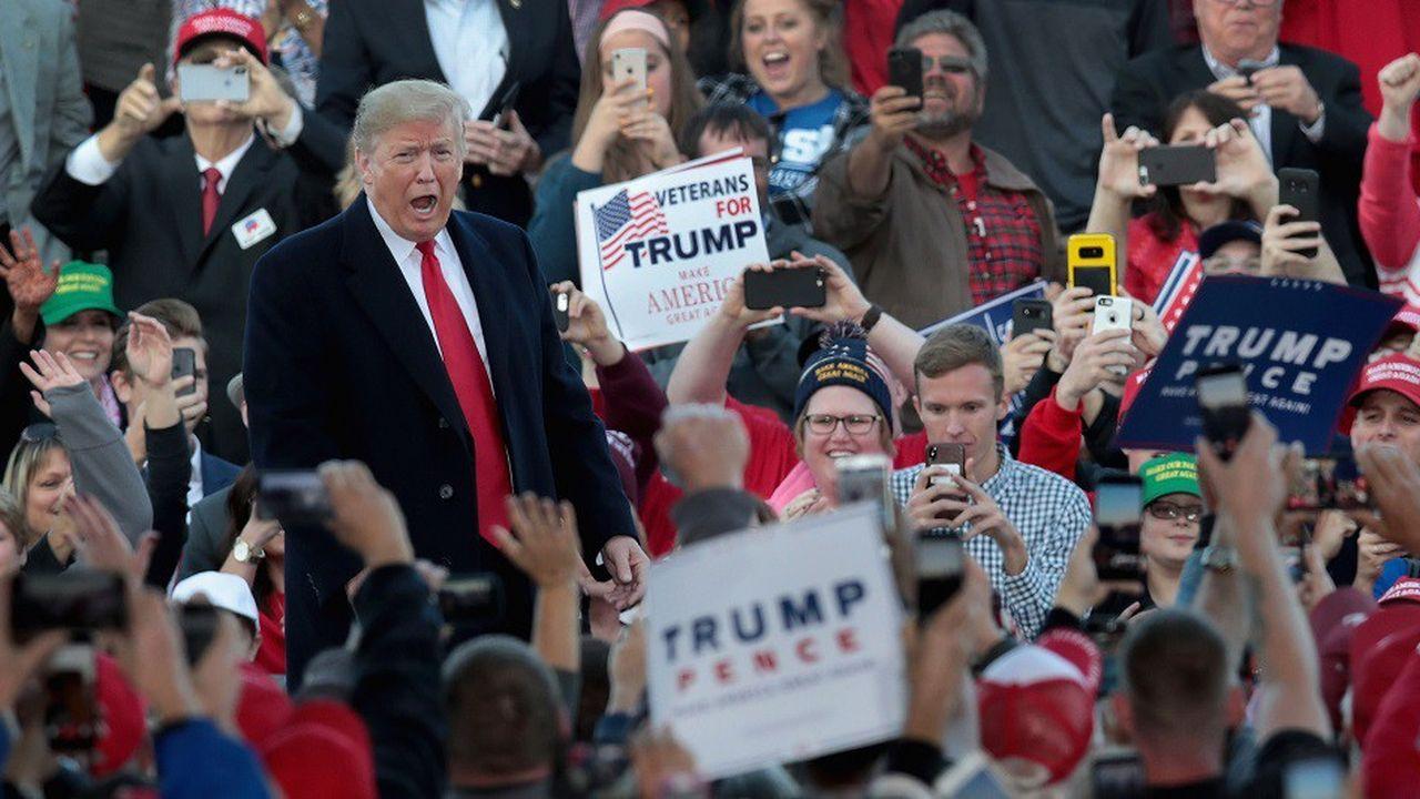 Donald Trump en meeting dans l'Illinois, le 27octobre.