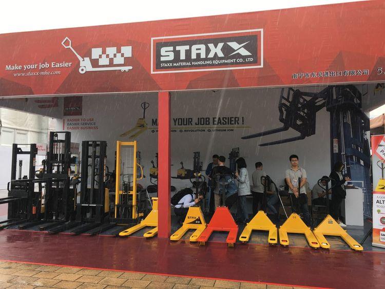 Ningbo Staxx Material Handling Equipment, un fabricant d'équipements de manutention, exporte principalement des transpalettes vers les Etats-Unis