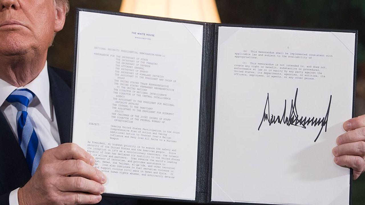 Le 8mai dernier, Donald Trump a annoncé qu'il réintroduisait les sanctions à l'encontre de l'Iran.