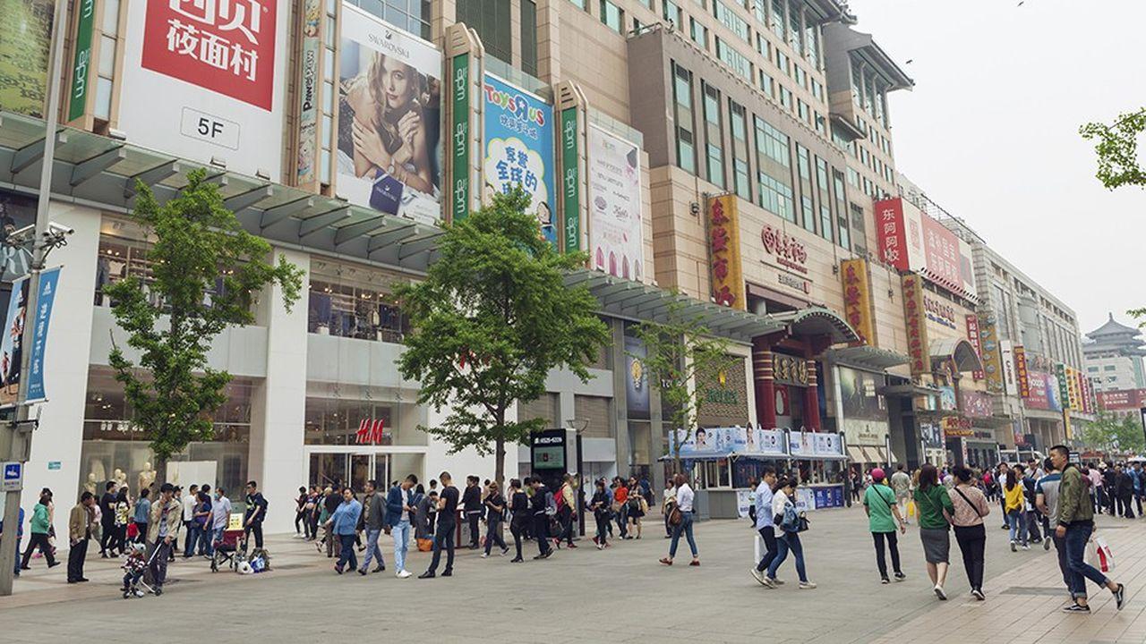 Beijing Wangfujing, fameuse artère commerciale de Pékin.