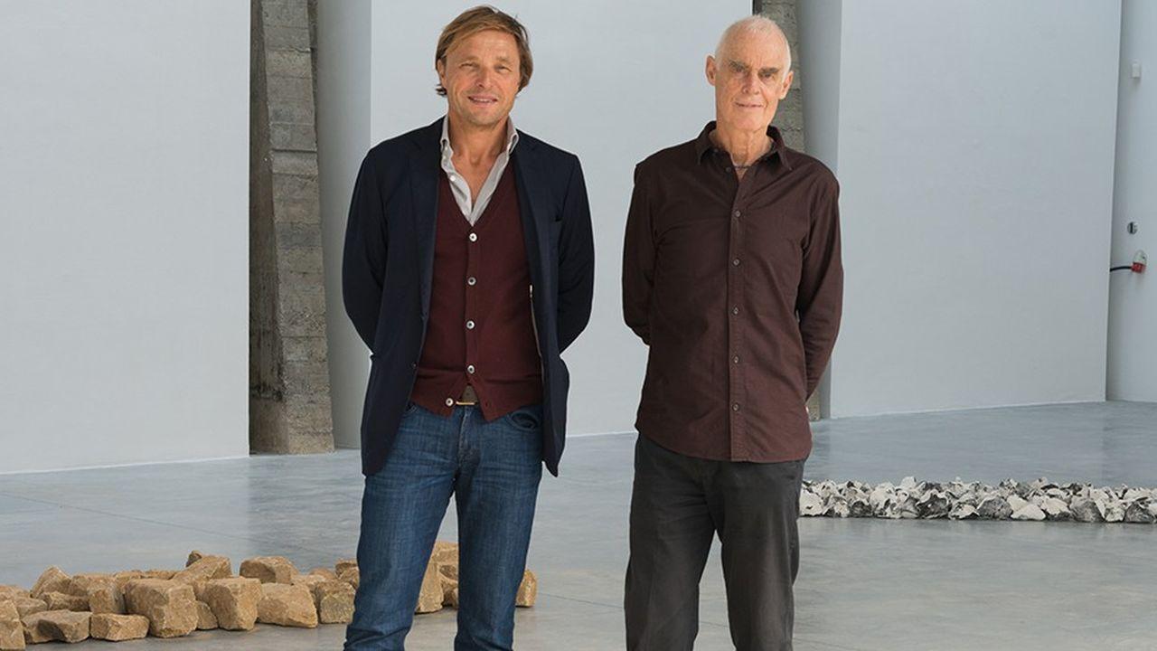 Le collectionneur-mécène Hubert Gonnet et l'artiste Richard Long