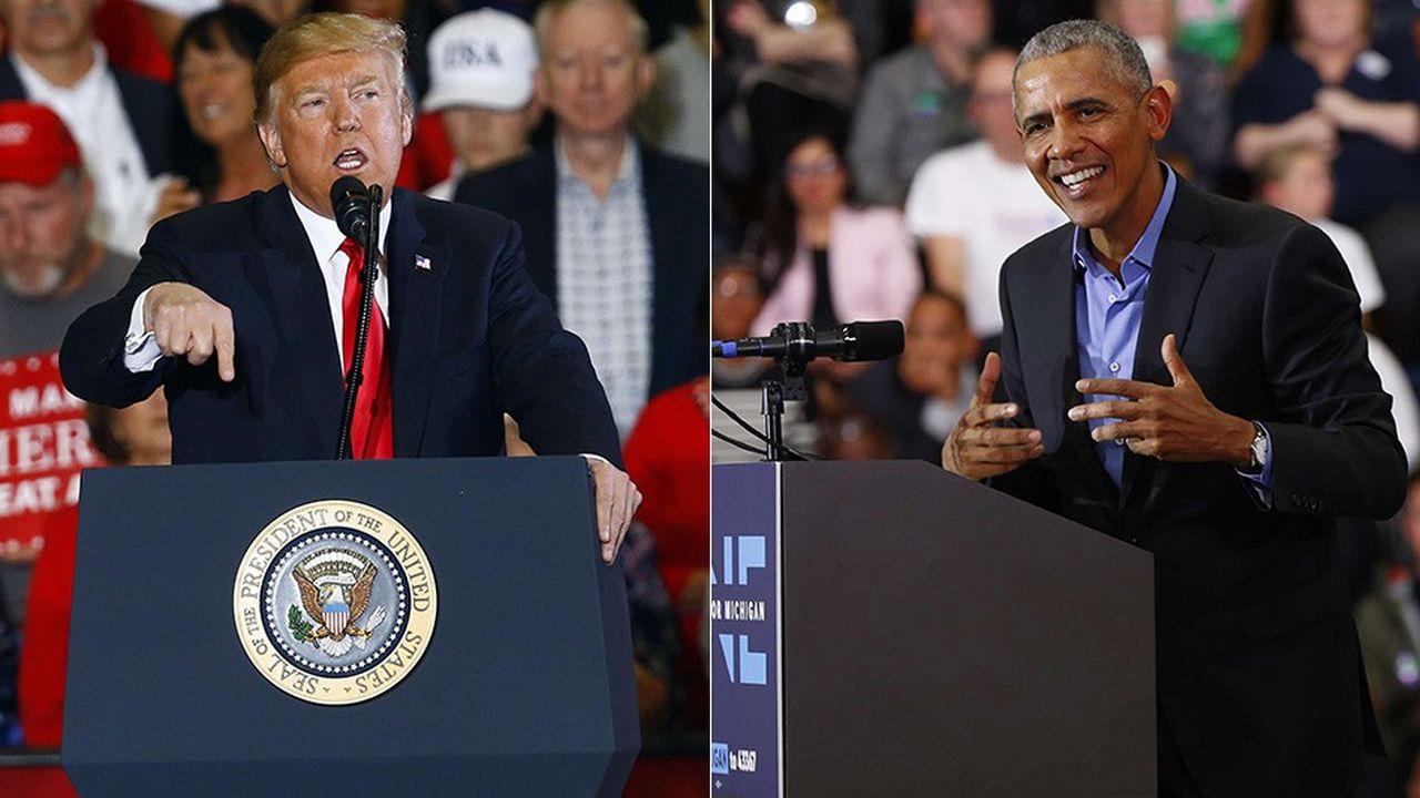 Donald Trump et Barack Obama sillonnent les Etats-Unis pour les «mid-terms» du 6novembre.