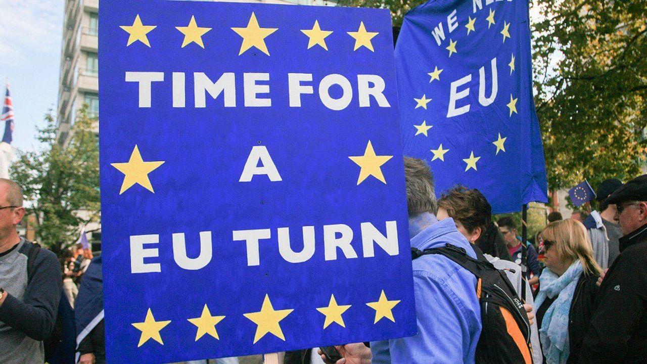 Des milliers de manifestants pro Europe ont récemment manifesté dans Londres pour demander un second vote sur le Brexit.