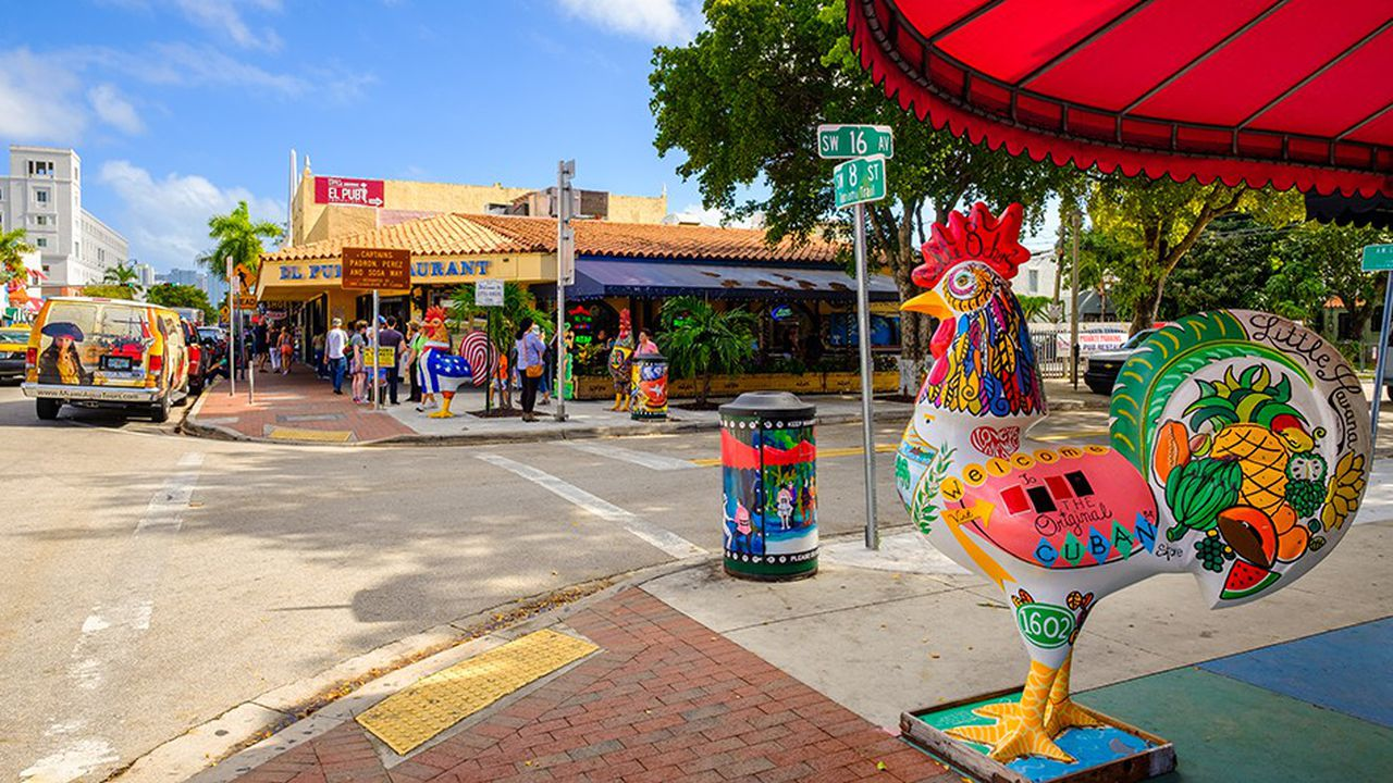 Little Havana, le quartier historique cubain de Miami.