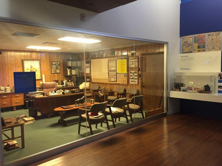 Le bureau de Sam Walton dans le musée Walmart