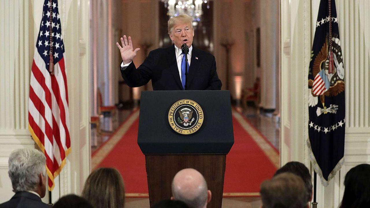Lors de cette conférence, Donald Trump a eu des échanges parfois tendus avec les journalistes.