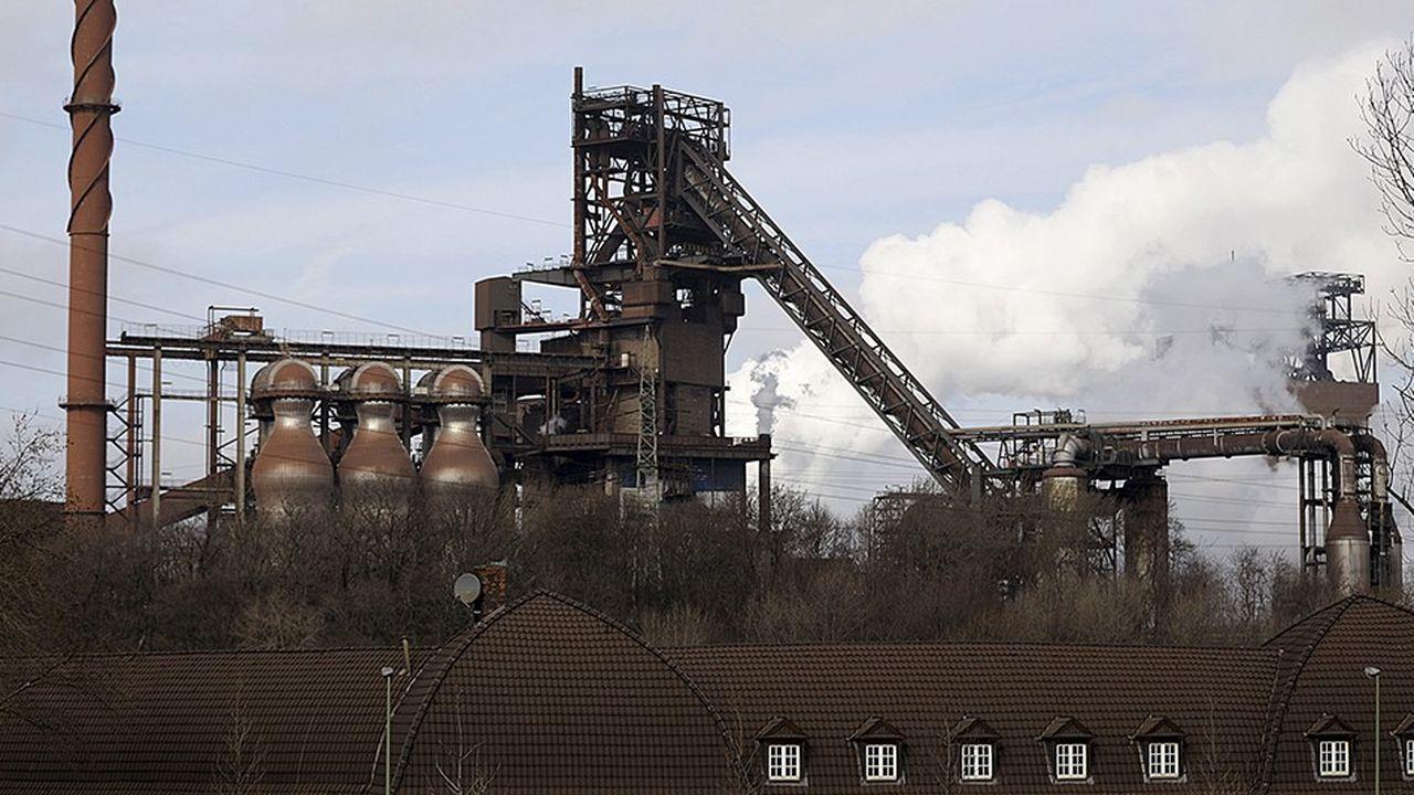 L'aciérie de Thyssenkrupp à Duisbourg produit environ 12millions de tonnes d'acier par an, surtout à destination de l'automobile.