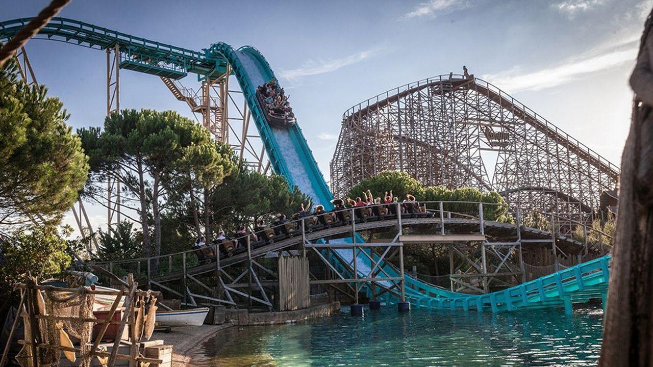 Atlantica super splash dans le parc Europa park