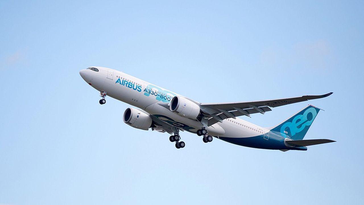 L'A330-800 peut voler sur 15.000 kilomètres avec 257 passagers à bord répartis en trois classes