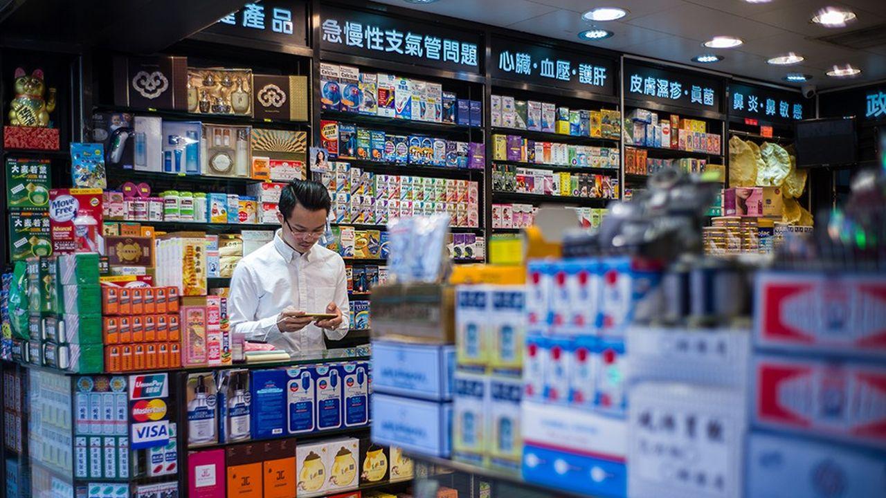 Une pharmacie à Hong-Kong.