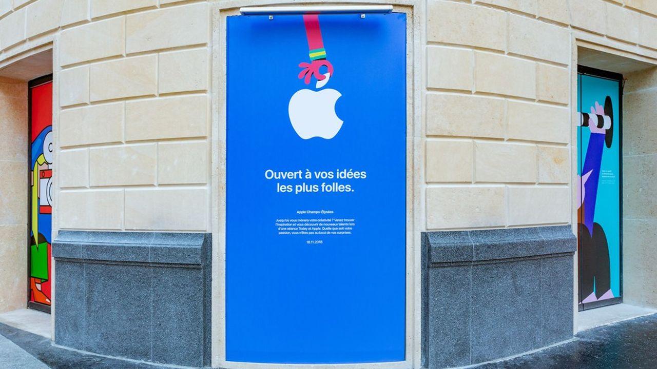 Le bâtiment du nouvel Apple Store est doté d'une superficie de 5.500 m² réparties sur six étages.