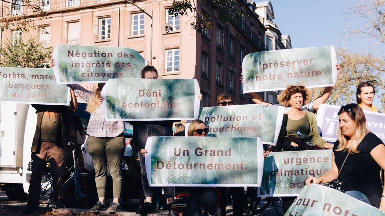 Le 13 octobre, plus de 3.000 personnes ont marche dans les rues de Strasbourg pour le climat et contre le projet de rocade.