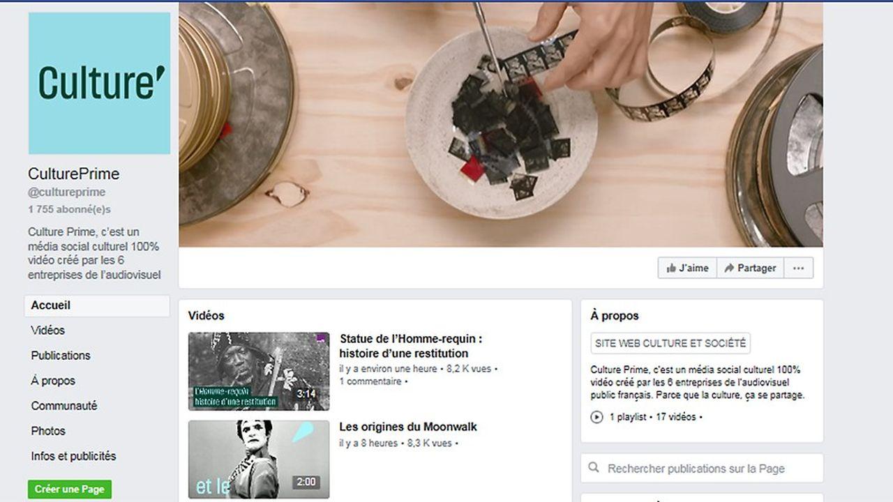 Culture Prime, la nouvelle offre du service public, a ce vendredi après-midi déjà presque 1.800 fans sur Facebook.