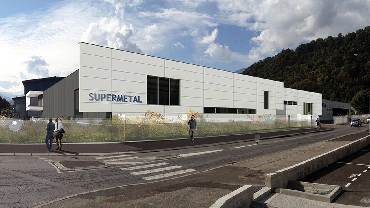 Projet de l'usine de Supermetal dont l'investissement de 8 millions d'euros va être aidé par la région