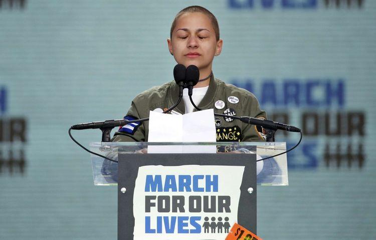 Emma Gonzalez, survivante de la tuerie du 14février à Parkland (Etats-Unis).