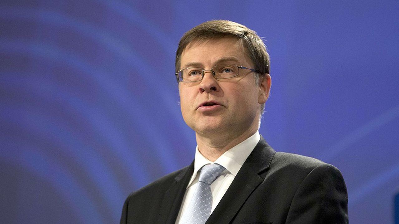 Le vice-président de la commission européenne, Valdis Dombrovskis.