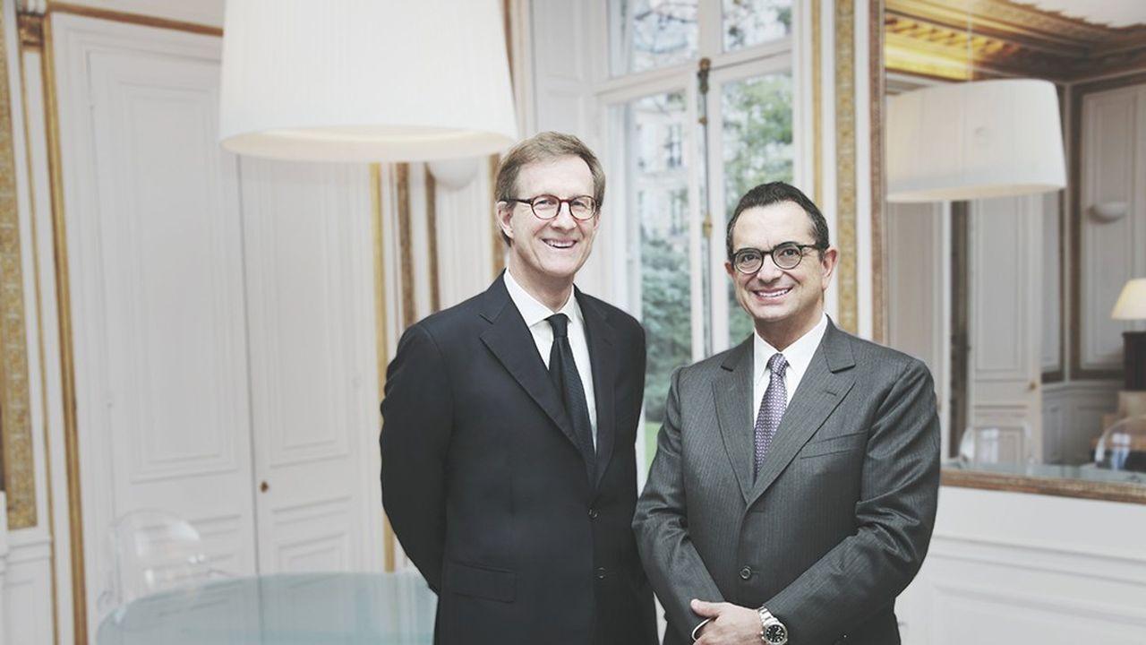 Le président du directoire de Wendel André François-Poncet et son directeur général Bernard Gauthier veulent concentrer le holding sur des acquisitions capables de résister au retournement de cycle