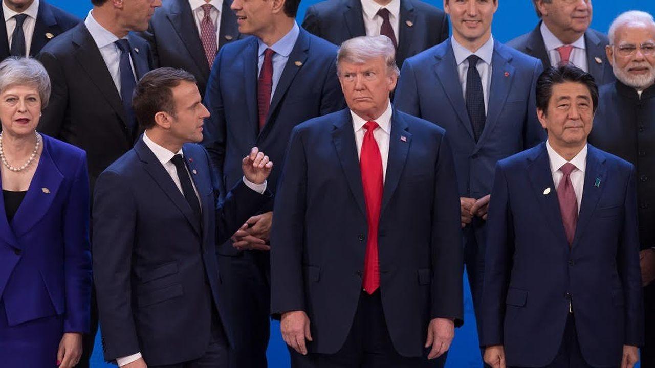 Le président américain, Donald Trump, a conduit plusieurs entretiens bilatéraux lors du premier jour du sommet.