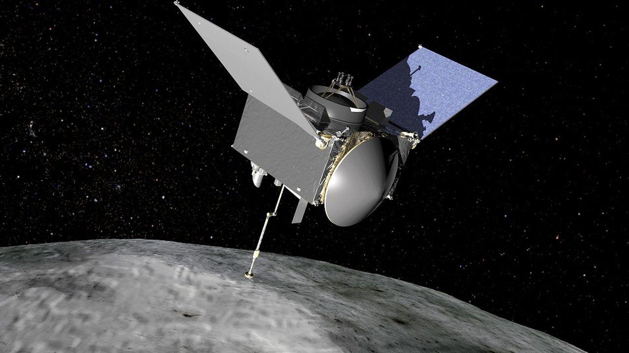 La sonde doit prélever un échantillon sur la surface de l'astéroïde avant de rentrer vers la Terre