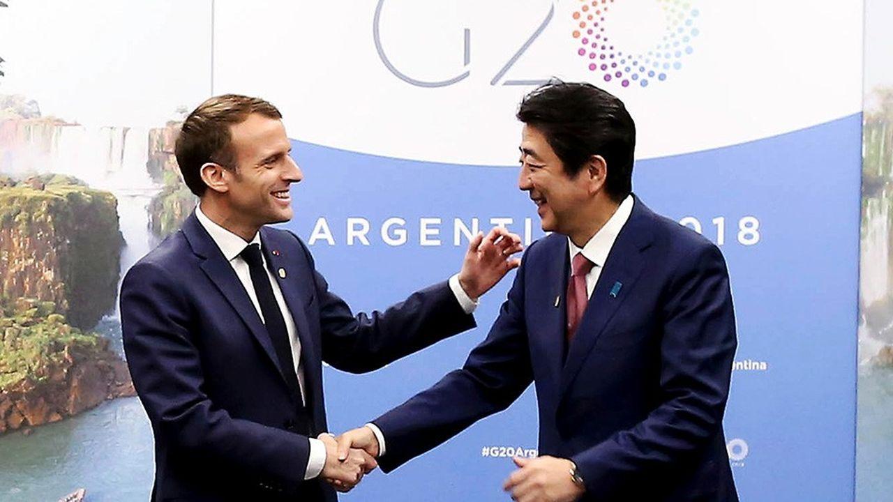 Emmanuel Macron et Shinzo Abe se sont rencontrés vendredi, en marge du G20, notamment pour évoquer le sujet Carlos Ghosn.