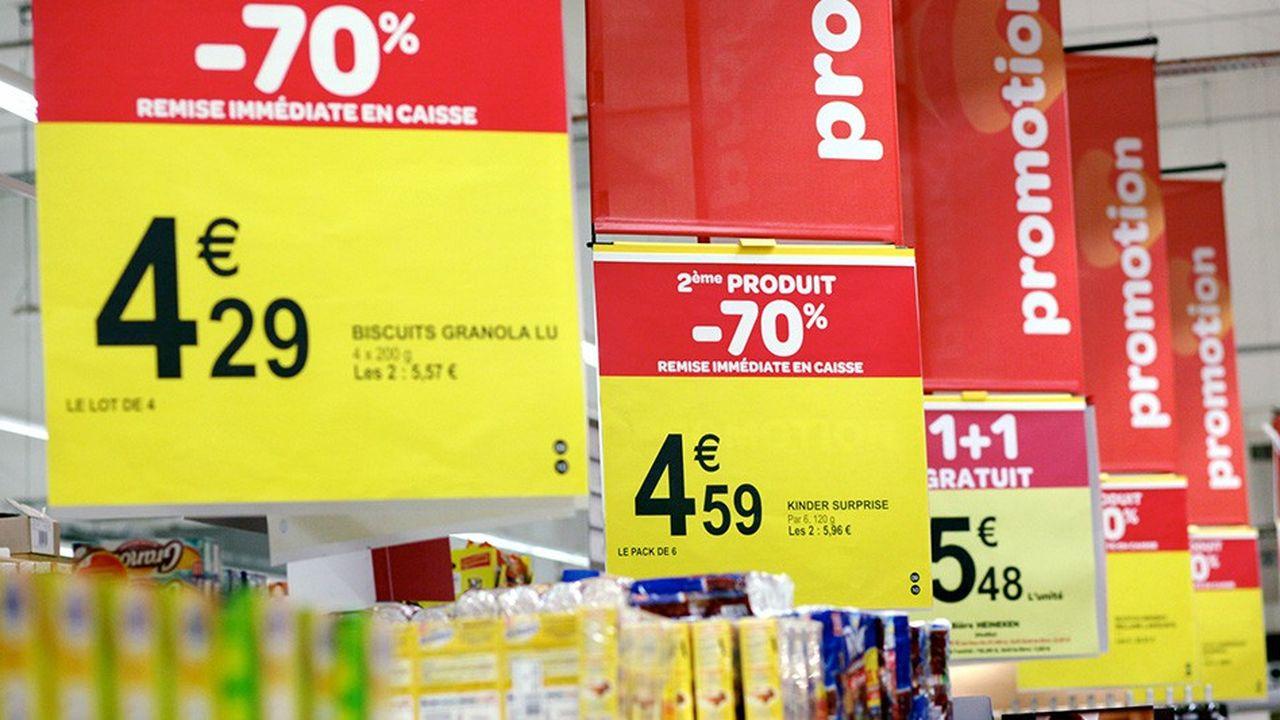 La loi alimentation limite les promotions sur un produit à 34% du prix et 25% des volumes.